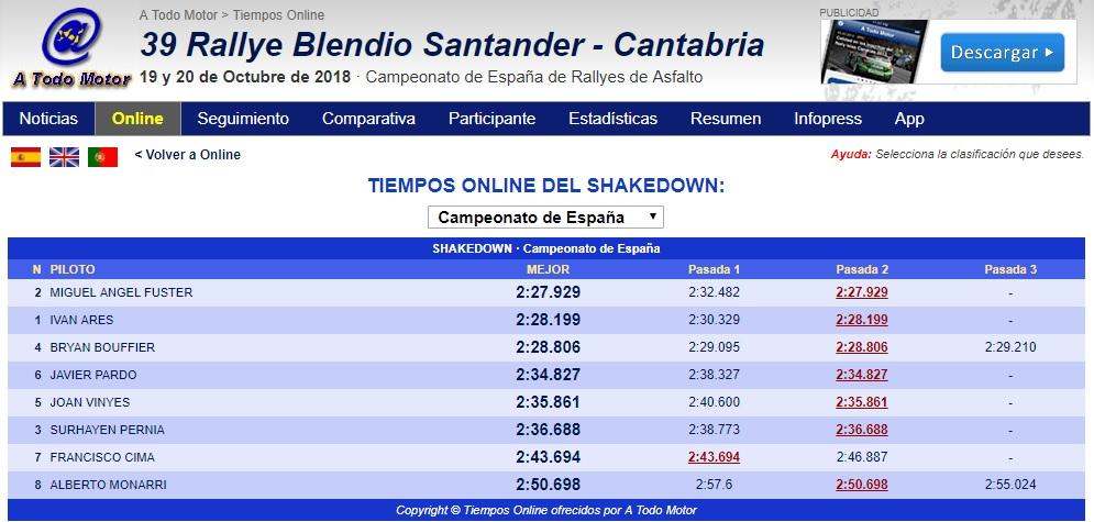 CERA: 39º Rallye Blendio Santander - Cantabria [19-20 Octubre] - Página 2 18-10-29