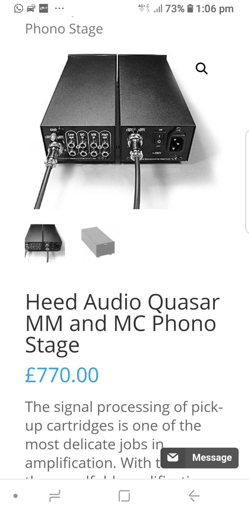 used Heed Audio Quasar phono preamplifier SOLD Head_p11