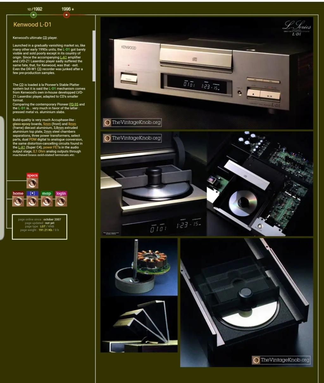 kenwood L-D1 super hi end cd turntable player (used) Tempfi10