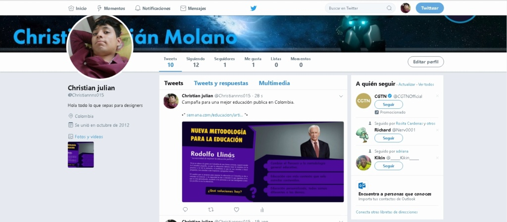 Bocetos aviso twitter/  Christian Julian Molano  Twitte10