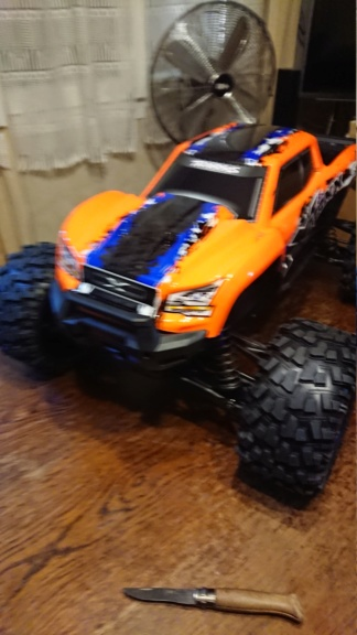 Xmaxx orange mécanique  Dsc_0063