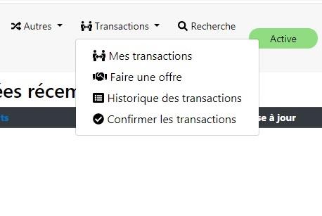 Les transactions D14 Trade210