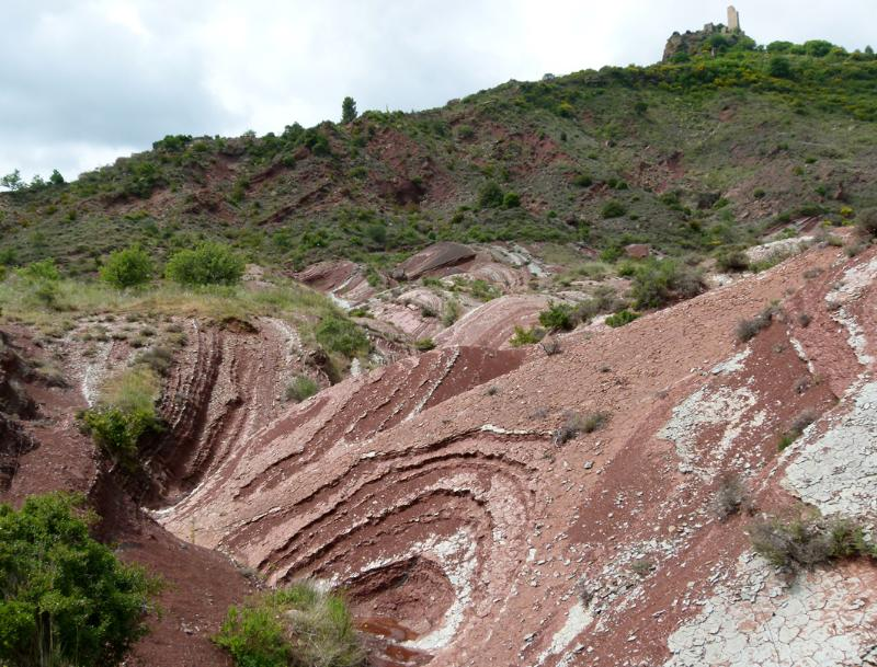 Land Art Rivière de schiste P1090310