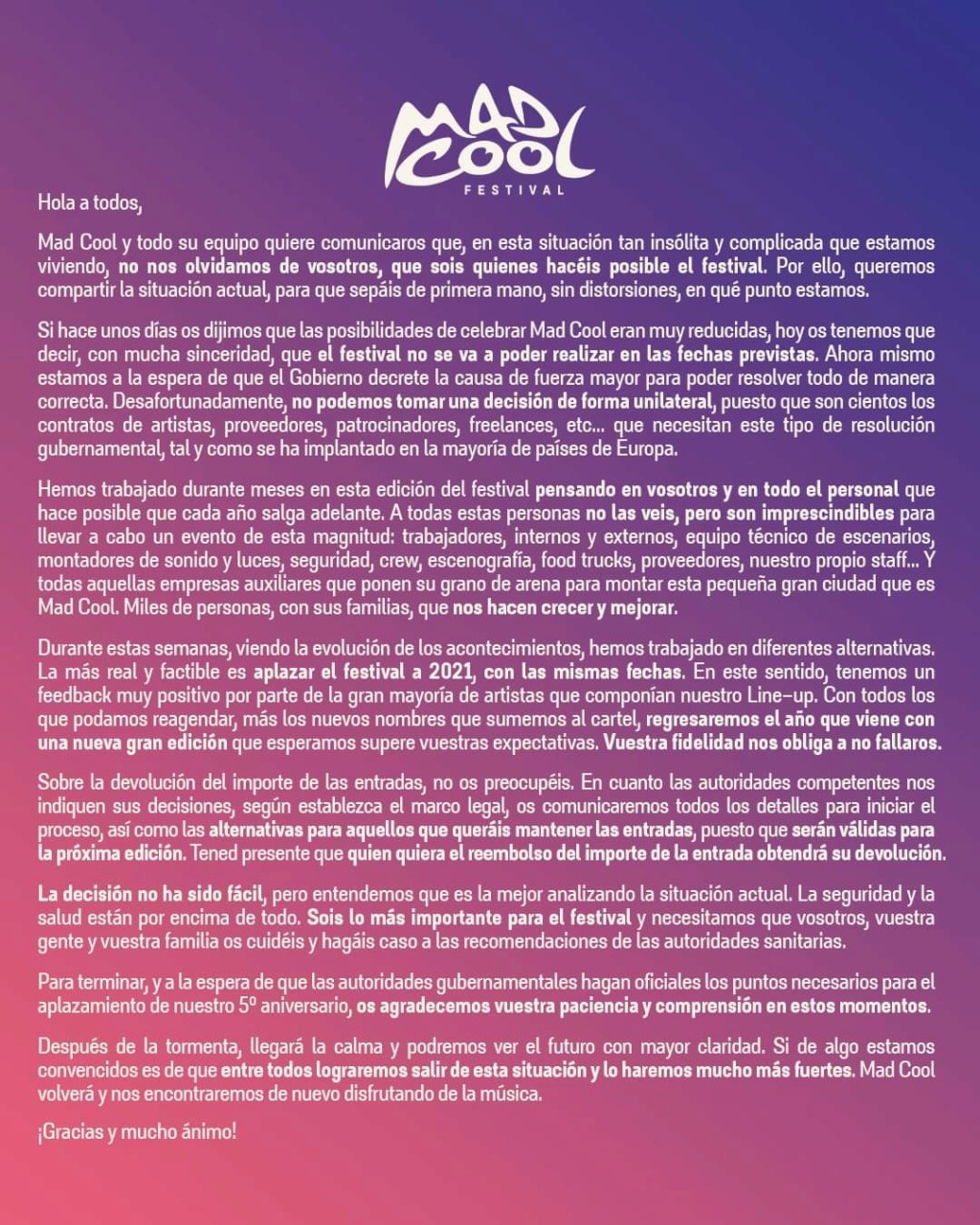 Mad Cool 2020 // Mumford and Sons, Royal Blood, Waxahatchee, The Last Internationale, Shura, The Chats,... - Página 17 Fb_img10