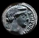 Denario de la gens Scribonia. PVTEAL - SCRIBON. Brocal de pozo. Roma. 11a10