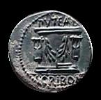 Denario de la gens Scribonia. PVTEAL - SCRIBON. Brocal de pozo. Roma. 11b10