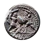 Denario de la gens Minucia. Q THERM M F. Soldado romano protegiendo a compañero caído. Roma.  18b10