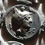Denario de la gens Axia. L AXSIVS L F. Diana en biga de ciervos a dcha. Roma. 19a10