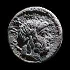 Denario de la gens Lucretia. L. LVCRETI. TRIO. Cupido a lomos de un delfín. Roma. 24a10