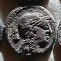 Denario de la gens Volteia. M. VOLTEI. M. F. Cibeles en una biga tirada por leones. Roma. 30a10