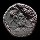 Denario de la gens Tituria. L. TITVRI. Dos soldados romanos raptando a dos sabinas. Roma. 31b10