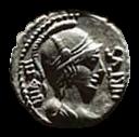 Denario de la gens Aquillia. MN. AQVIL MN. F. MN. N / SICIL. Soldado levantando a mujer arrodillada. Roma. 33a10