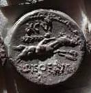 Denario de la gens Calpurnia. L PISO FRVGI. Jinete corriendo a dcha. Roma.  40b10