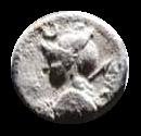 Denario de la gens Licinia. P NERVA. Tres ciudadanos romanos en el recinto de los comicios. Roma. 4a10