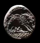 Denario de la gens Hosidia. HOSIDI C. F. El jabalí de Calidonia herido a dcha. Roma. 51b10