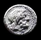 Denario de la gens Antonia. Q. ANTO. BALB - PR. Victoria guiando cuádriga a dcha. Roma. 6a10