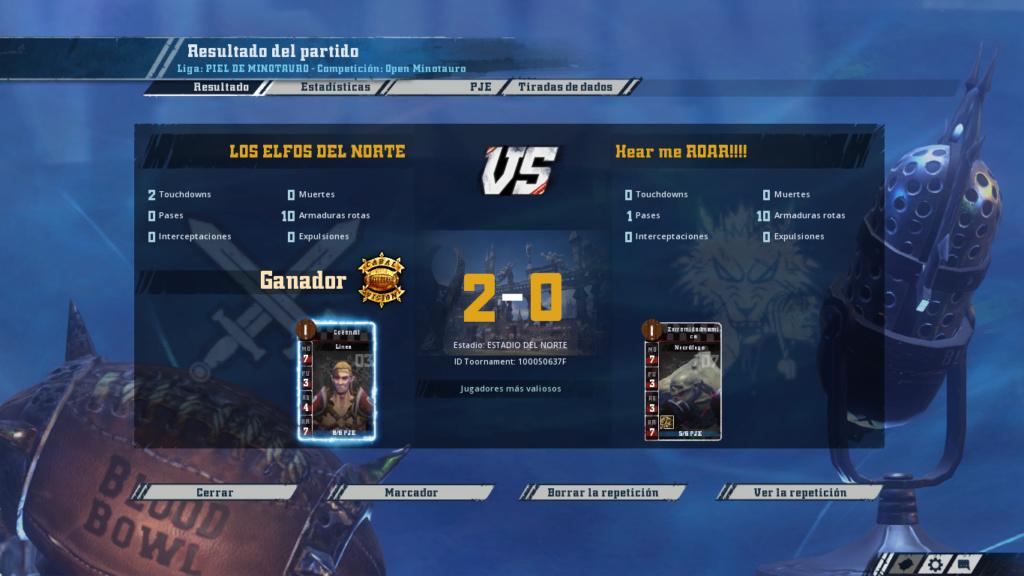 Open Minotauro Verano 2018 - Retos e Informes de partidos 2-0_8-10