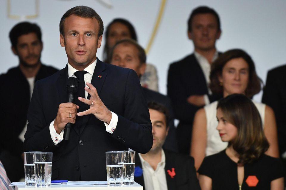 Macron lève cinq milliards d'euros pour les très grosses start-up 12521210