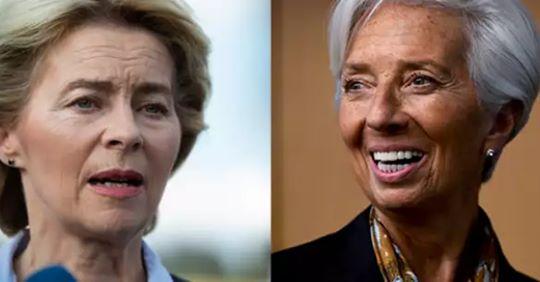 Christine Lagarde et Ursula von der Leyen : deux femmes prennent la tête de l'Europe 66443110