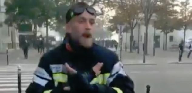Le pompier blessé, qui a insulté Macron, suspendu « à titre conservatoire » Eaf5a510