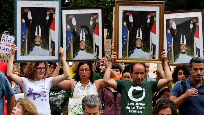 Le tribunal de Lyon juge «légitime» le décrochage d'un portrait de Macron Micron10