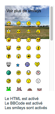 AwesomeBB : Bande en bas de forum et transparence de la partie smileys Smiley12