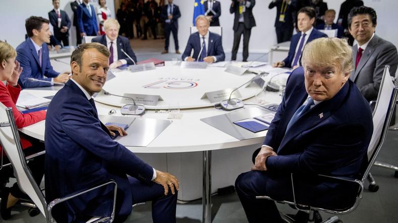 Amateurisme diplomatique? Recadré par Trump, Macron reconnaît ne pas avoir été mandaté par le G7 Trump10