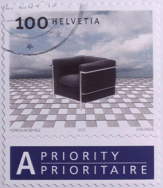 SBK 1109 (Mi 1863) Corbusier-Sessel Bogenausgabe 1109_c11
