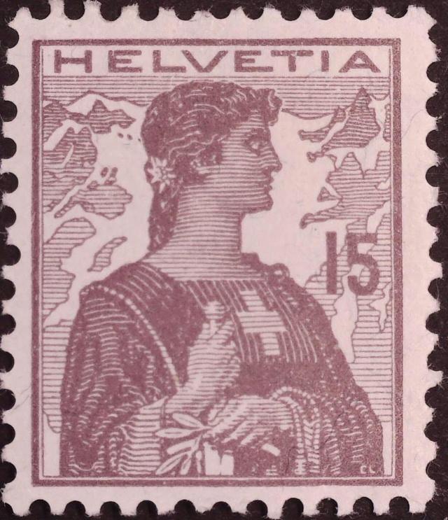 SBK 122 (Mi 116) Helvetia Brustbild II 122_no10