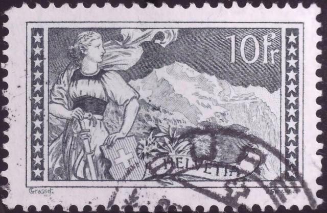 SBK 179 (Mi 128) Gebirgslandschaften Jungfrau, grün 179_bl10