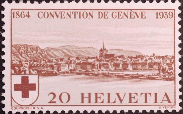 SBK 240 (Mi 357) Stadt Genf 20 Rp. rot 240_gr10