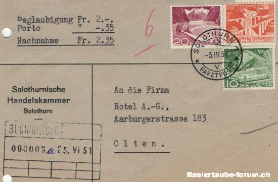solothurn - Stempel der Stadt Solothurn A12