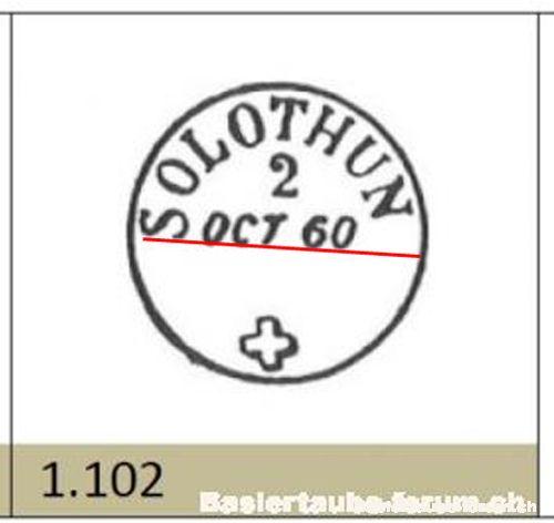 solothurn - Stempel der Stadt Solothurn A13