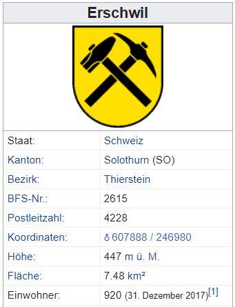 Erschwil SO - 920 Einwohner A39