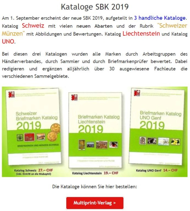 Die neuen SBK Kataloge 2019 Aa25