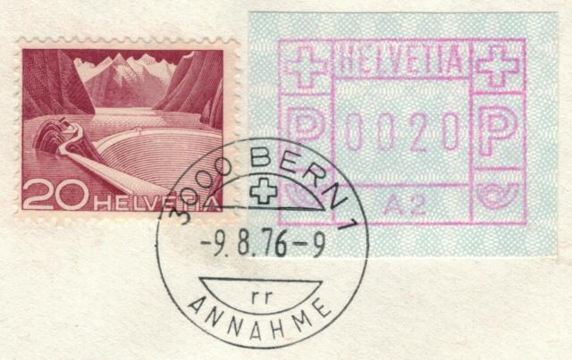 ATM Typ 1 mit Automatenbezeichnung A2 1976 Beleg_11