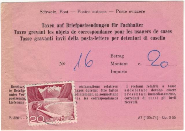 Formular: Taxen auf Briefpostsendungen für Fachhalter Beleg_12