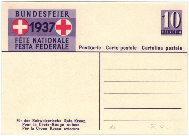 Bundesfeier-Ganzsachenpostkarten - Zumstein BuP Bunder12