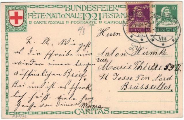 Bundesfeier-Ganzsachenpostkarten - Zumstein BuP Bundes10