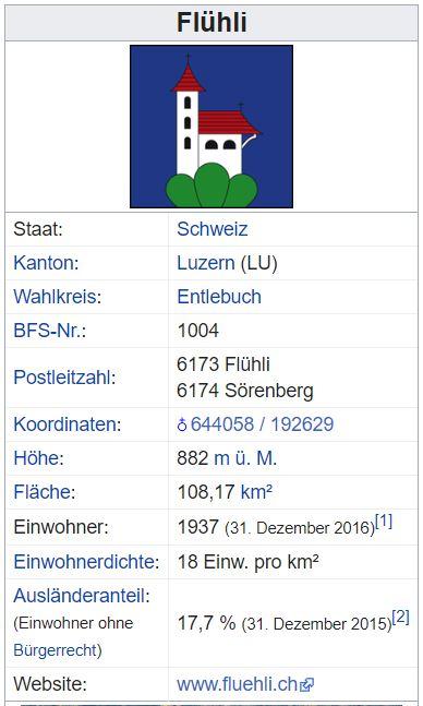 Sörenberg LU - 435 Einwohner Flzhli10