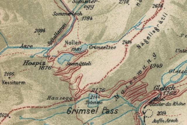 Grimsel Stausee mit Hospiz - T&L 1949 Grimse11