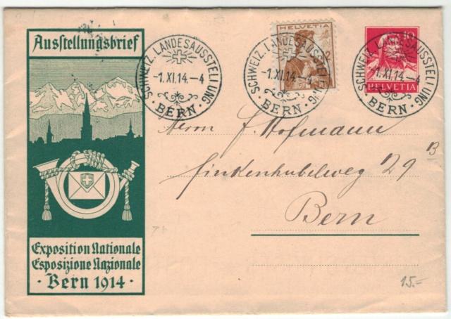 Ausstellungsbriefe, Zumstein AuB Gs_lan10