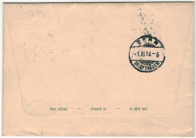 Ausstellungsbriefe, Zumstein AuB Gs_lan11