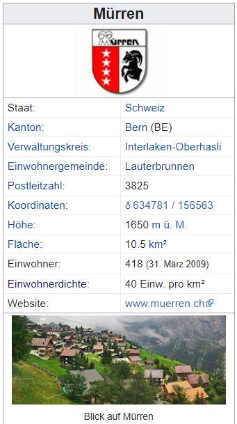 Mürren BE - 418 Einwohner Mzrren11