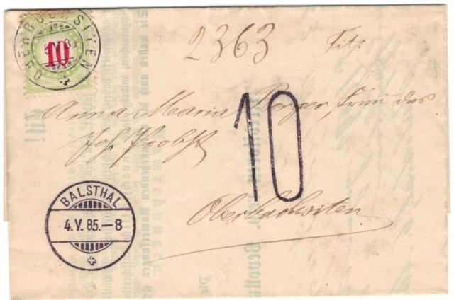 SBK 18B (Mi 18AXba) 1884-1886, 11.-13. Auflage, Normalstehend  Nachpo10