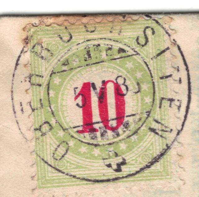 SBK 18B (Mi 18AXba) 1884-1886, 11.-13. Auflage, Normalstehend  Nachpo11