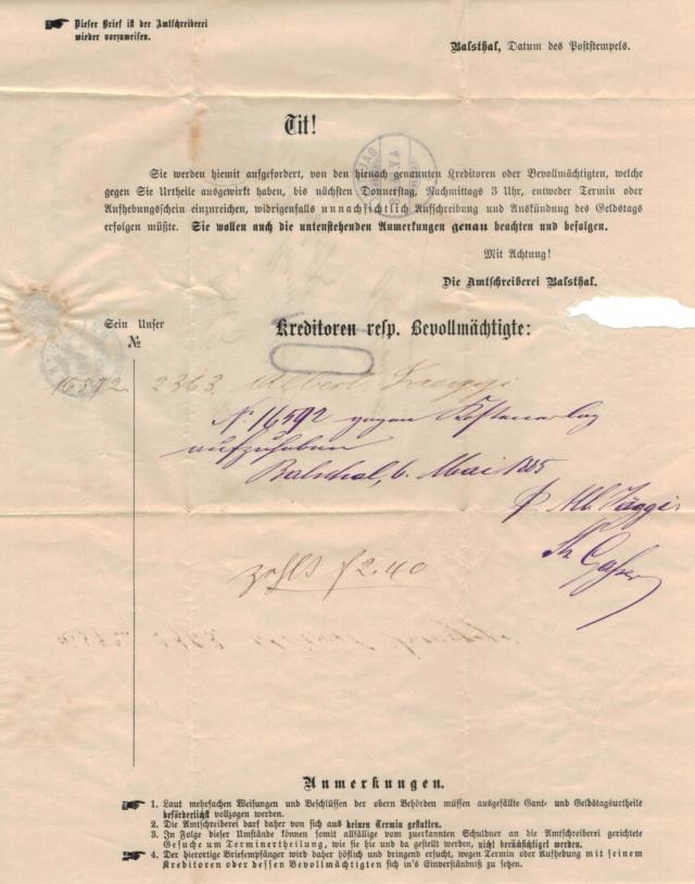 Mein Sammelgebiet: Alte Briefe mit Einblick in die früheren Leben. Nachpo12