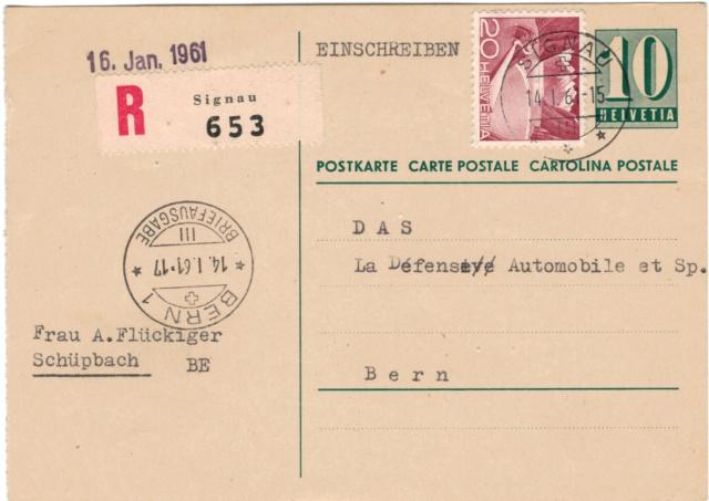 Ganzsachenpostkarten - Ausgaben 1935 bis 1964 Postka11