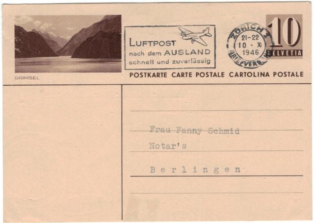 Bildpostkarten Zumstein P 163, 163z (430 verschiedene Karten) Postka13