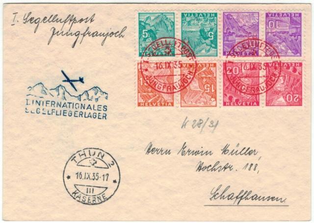 Erste Schweizer Segelflugpost 1935 Segelf10